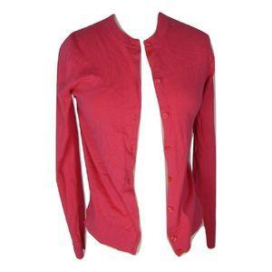J. CREW The Caryn Cardigan XS L/S Pink Sweater